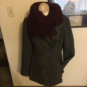 Kennth Cole gray pea coat Sz 10